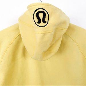 lululemon athletica Jackets & Coats - Lululemon Yellow Scuba Hoodie Jacket 12